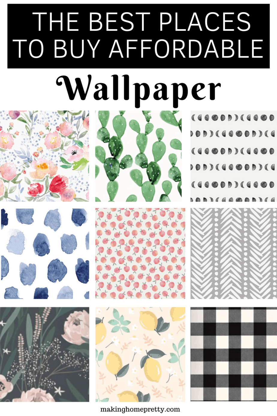 Best Places To Buy Cute And Affordable Wallpaper Making Home Pretty