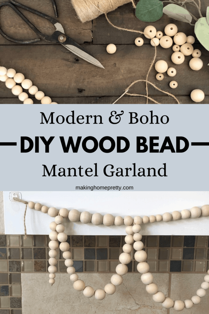Diy Wood Bead Garland For Your Mantel Making Home Pretty